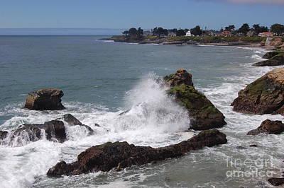 Ocean Spray West Cliff Print by Garnett  Jaeger