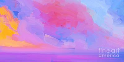 Abstract Seascape Digital Art - Ocean Storm by Pixel  Chimp