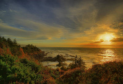 Ocean Sun Rays Original by Dale Stillman