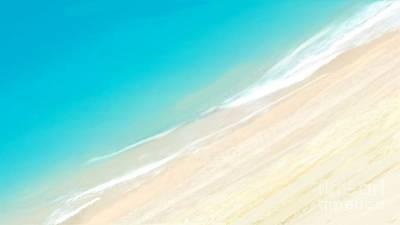 Seascape Digital Art - Ocean View by Anthony Fishburne