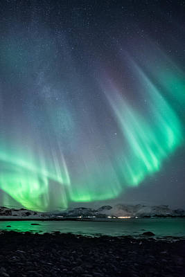 Aurora Photograph - Ocean View by Tor-Ivar Naess