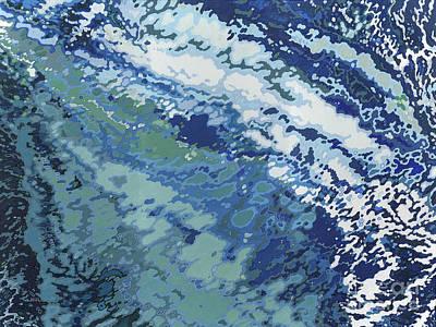 Tide Painting - Ocean Wake by Margaret Juul