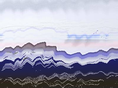 Flying Seagull Mixed Media - Ocean Waves by Lenore Senior