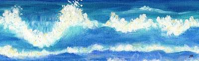 Ocean Painting - Ocean Waves by Linda Mears
