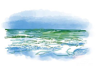 Ocean Waves Print by Robert Yaeger