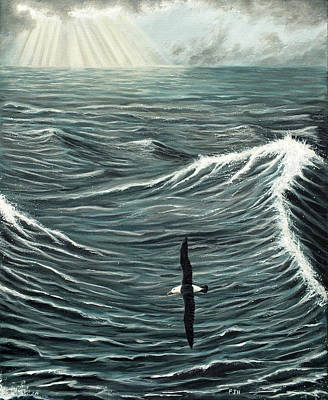 Albatross Painting - Oceanic Wanderer by Philip Harvey