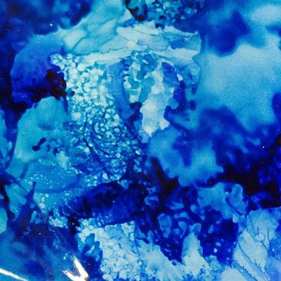 Ceramic Mixed Media - Oceans Blue by Starla  Snead