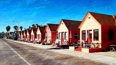 Oceanside Beach Cottages Print by Glenn McCarthy Art and Photography