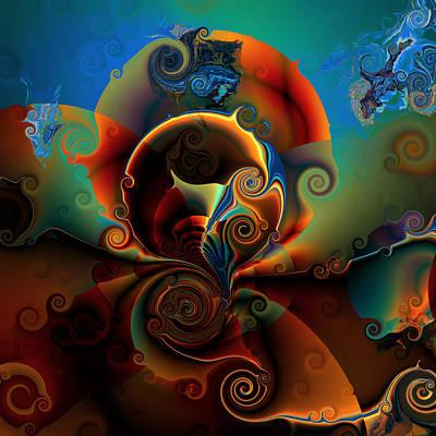 Algorithmic Digital Art - Ocf 423 Luminous by Claude McCoy