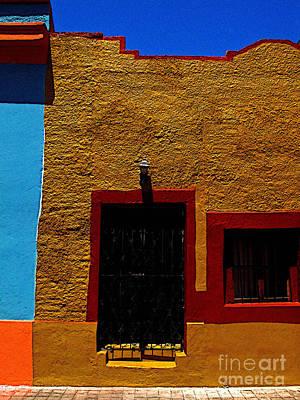Mazatlan Photograph - Ochre House With Blue Sky by Mexicolors Art Photography