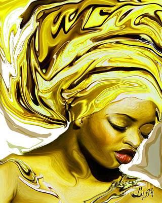 Oshun Mixed Media - Ochun Ede by Liz Loz
