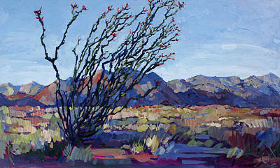 National Park Painting - Mojave Ocotillo by Erin Hanson