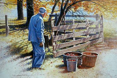 Painting - October Apples by Tom Heflin