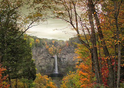 October At Taughannock Print by Jessica Jenney