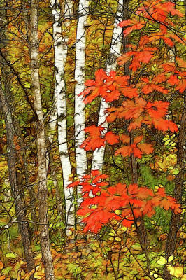 October Fling Original by Bill Morgenstern