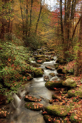 Fall Scenes Photograph - October Flowing Through The Smokies by Mike Eingle