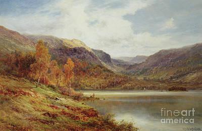 October In The Highlands Print by Alfred de Breanski