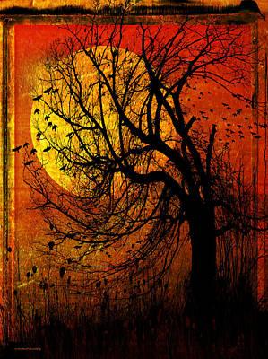 October Moon Print by Ron Jones