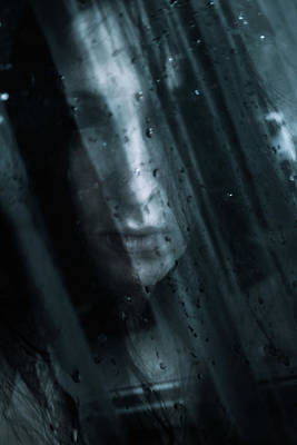 Goth Photograph - October Rain by Cambion Art