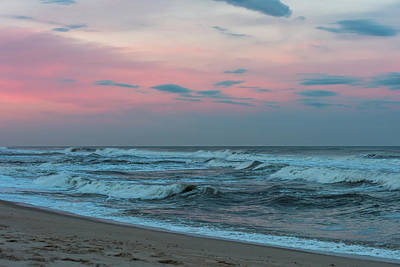October Sky Seaside Jersey Shore Print by Terry DeLuco