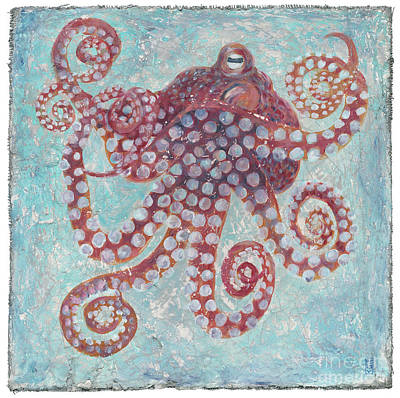 Octopus On Plaster Print by Danielle Perry