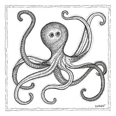 Octopus Print by Stephanie Troxell