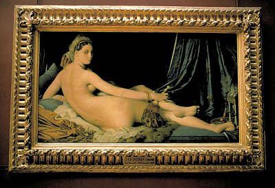 Louve Painting - La Grand Odalisque By Ingres At Louvre by Carl Purcell