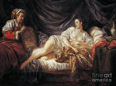 Sex Slaves Painting - Odalisque  Turkish Slave by Jean-Baptiste Le Prince