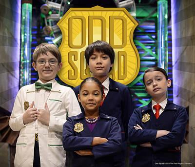 Sneakers Digital Art - Odd Squad - Oscar, Ms.o, Otto, Olive by Odd Squad