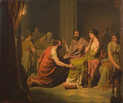 Painting - Odysseus Before Alcinous King Of The Phaeacians by August Malmstrom