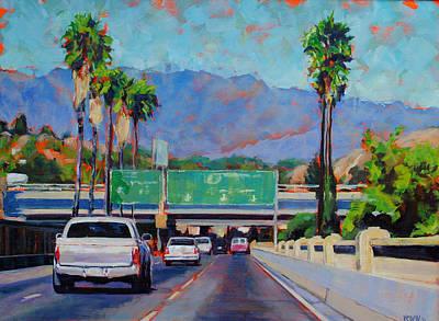 Pasadena Painting - Off At Fig by Richard  Willson