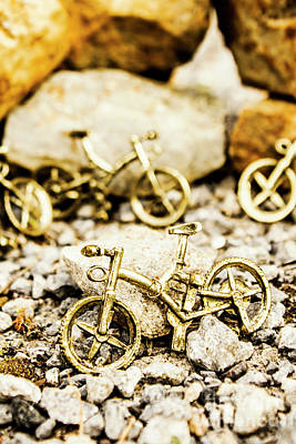 Touring Photograph - Off Road Bike Trinkets by Jorgo Photography - Wall Art Gallery