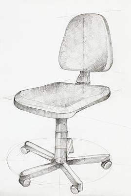 Office Chair Print by Dan Comaniciu