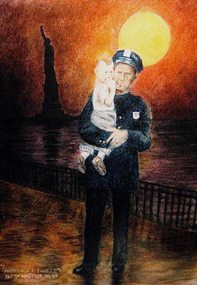 Officer Daddy Print by Larry Whitler