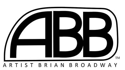 Official Abb Logo Inverted Print by Brian Broadway