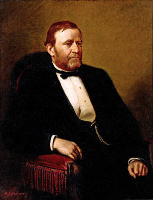 Painting - Official Presidential Portrait Of Ulysses Simpson Grant by Henry Ulke