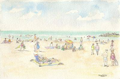 Ogunquit Beach Painting - Ogunquit Beach by Caryn Sterling