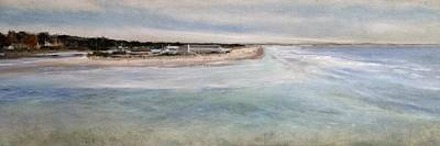 Ogunquit Beach Painting - Ogunquit River And Beach by Susan E Hanna
