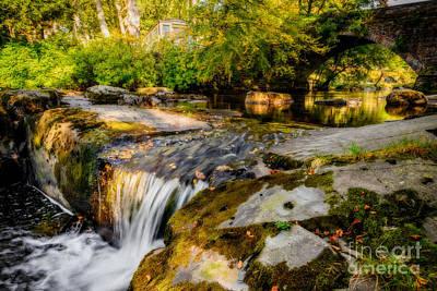 Holidays Digital Art - Ogwen Bank Waterfall  by Adrian Evans