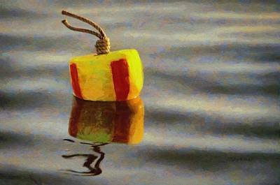 Red Painting - Oh Buoy by Jeff Kolker