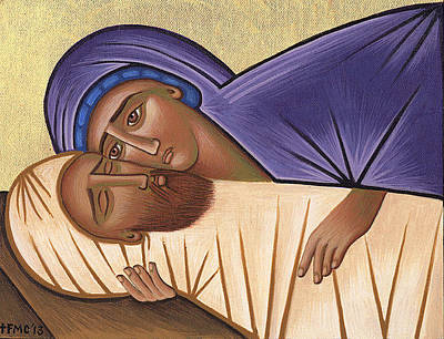 Greek Icon Painting - Oh My Sweet Spring by Michael Courey