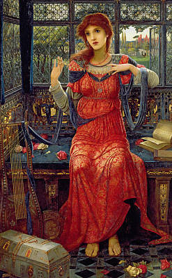Medieval Painting - Oh Swallow Swallow by John Melhuish Strudwick