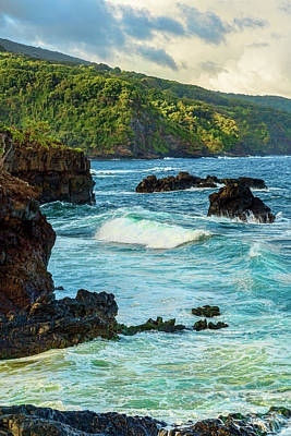 Ohe'o Gulch Ocean View Print by Kelley King