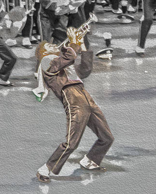 Marching Band Photograph - Ohio Music Man by Tom Gari Gallery-Three-Photography