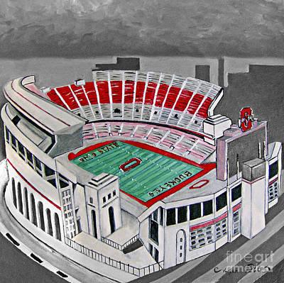 Painting - O.h.i.o Ohio State Stadium by Joseph Palotas