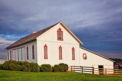 Ohio State University Barn Print by Marcia Colelli