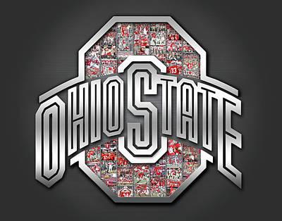 Ohio State Buckeyes Football Print by Fairchild Art Studio