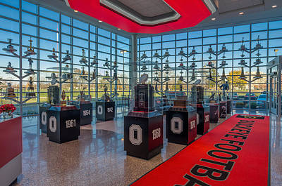 Ohio State Football Trophy Collection Print by Scott McGuire