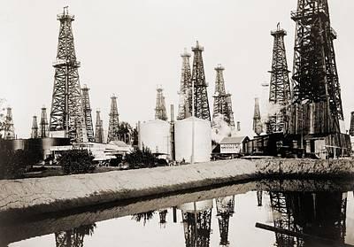Bsloc Photograph - Oil Derricks In Santa Fe Springs by Everett
