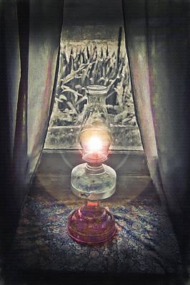 Oil Lamp - Still Life Print by Steve Ohlsen